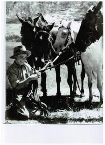 History John Rudd as a kid on Safari