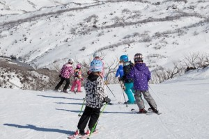kids on the slopes
